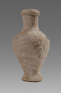 Ancient Holy Land Roman Terracotta Spindle Bottle c.1st-2nd cent AD.