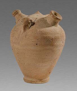 Ancient Holy Land Byzantine Terracotta Baby Feder Bottle c.10th cent AD.