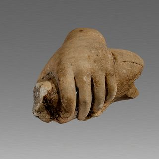 Ancient Roman Marble Hand holding a Bird c.1st-2nd cent AD.