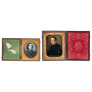 Pair of Miniature Portraits, Mexico and Europe, 19th century