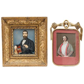 Pair of Miniature Portraits, Europe, 19th century