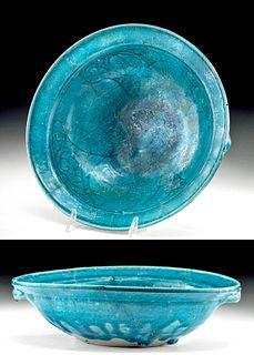 12th C. Persian Bamiyan Glazed Pottery Bowl