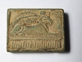 An Egyptian Plaque of Khnum New Kingdoms Period. c. 18th-20th Dynasties.