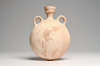 Large Ancient Greco-Roman Pottery Flask Ca. 600-400 B.C.