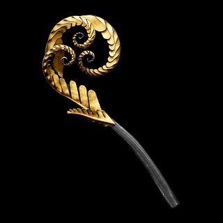 Fiddlehead Fern Pin