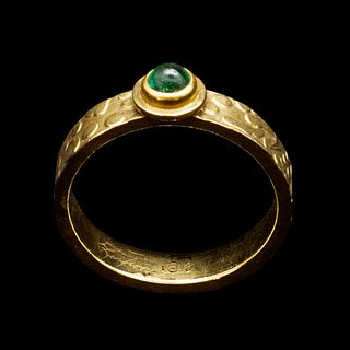 Stack Ring, Tsavorite Green Garnet
