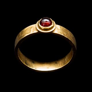 Stack Ring, Red Garnet