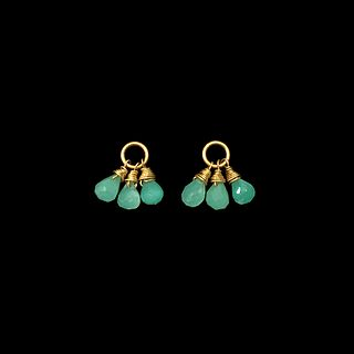 Chalcedony Attachments for latch-back earrings