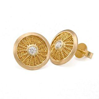Sunburst Weave Stud Earrings