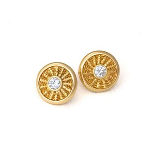 Sunburst Weave Stud Earrings