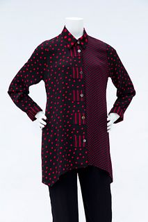 Tunic in Mixed Red/ Black Prints