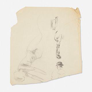 Franz Kline, Untitled (Figure Sketch) (four works)
