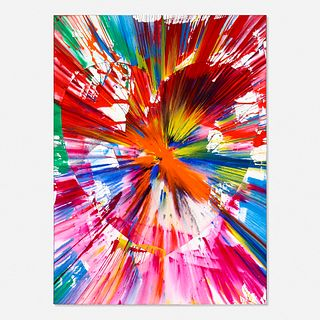 Damien Hirst, Heart Spin Painting (two parts)