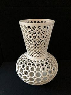 Pierced Vase Shaped Tabletop Sculpture