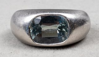 Platinum, Spinel, & Diamond Gypsy Ring