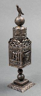 Judaica Antique Silver Spice Tower Besamim