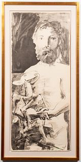 "Pablo Picasso ""Man with Lamb"" Jacomet Print"