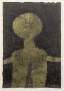 "Rufino Tamayo ""Figura en Verde"" Mixograph"