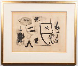 "Joan Miro ""Album 13: Plate I"" Lithograph, 1948"