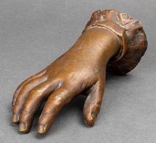 Antique Bronze Sculpture of a Lady's Hand, 1904