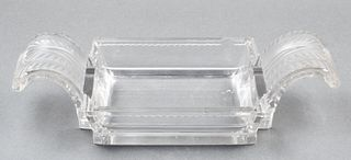 Lalique Frosted Art Glass Centerpiece Bowl