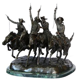 FREDERIC REMINGTON (USA 1861-1909) LARGE BRONZE