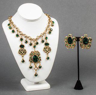 Gianni de Liguoro Designer Necklace & Earrings