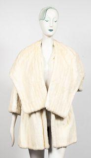 Rabbit Fur Coat & Shawl