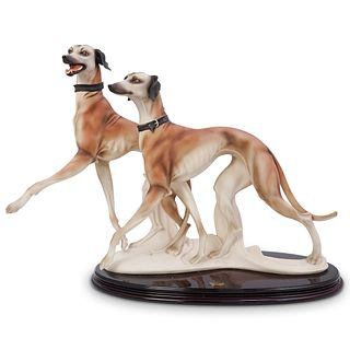 "Large Giuseppe Armani ""Runners"" Greyhound Sculpture"