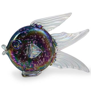 Roger Vines Signed Art Glass Fish Figurine