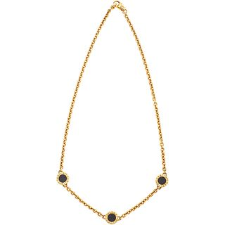 CHOKER BVLGARI BVLGARI WITH ONYX. 18K YELLOW GOLD