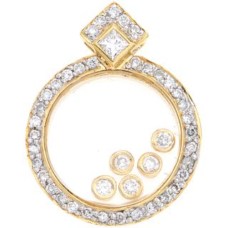 DIAMONDS PENDANT. 18K YELLOW GOLD