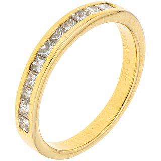 HALF ETERNITY DIAMONDS  RING. 14K YELLOW GOLD