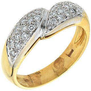 DIAMONDS RING. 18K YELLOW GOLD