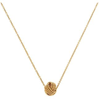 CHOKER AND PENDANT. 18K YELLOW GOLD. TIFFANY & CO., NUDO COLLECTION