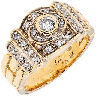 DIAMONDS RING. 14K YELLOW GOLD