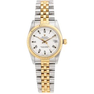 ROLEX OYSTER PERPETUAL DATEJUST. STEEL AND 18K YELLOW GOLD. REF. 68273, CA. 1989
