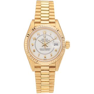 ROLEX OYSTER PERPETUAL DATEJUST LADY. 18K YELLOW GOLD. REF. 69178, CA. 1985 - 1987
