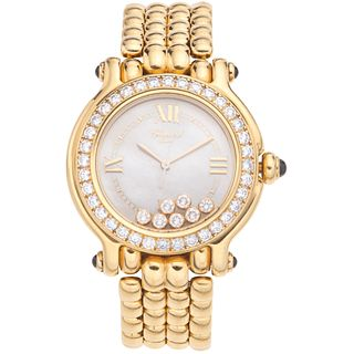 CHOPARD HAPPY SPORT LADY WITH DIAMONDS. 18K YELLOW GOLD. REF. 4144