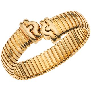 BRACELET. 18K YELLOW GOLD. BVLGARI. PARENTESI COLLECTION