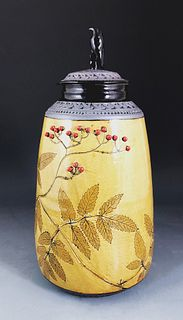Falcon Jar with Poison Hemlock in Amber