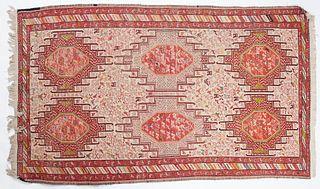 Caucasian Kilim Rug Textile