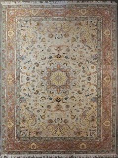 Large Persian Silk Rug Carpet