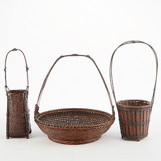 Grp: 3 Japanese Ikebana Baskets