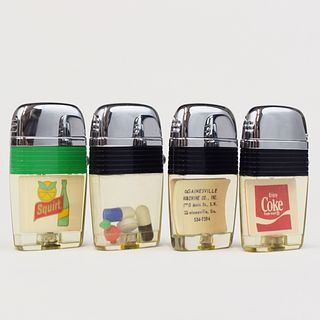 Grp: 4 Scripto Vu-Lighters w/ Original Packaging