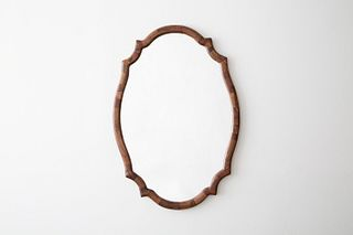 STACKED Scalloped Walnut Mirror