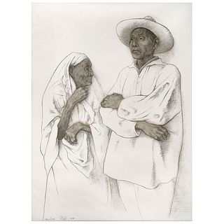 "FRANCISCO ZÚÑIGA, La abuela, Signed and dated 1981, Lithography 82 / 100, 29.3 x 21.6"" (74.5 x 55 cm)"