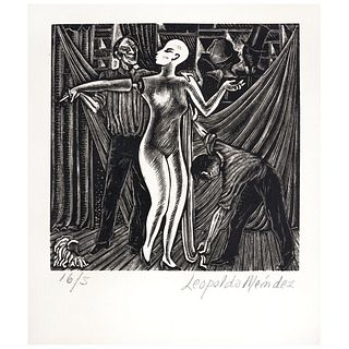 "LEOPOLDO MÉNDEZ, Untitled, Signed, Woodcut 16 / 5, 3.9 X 3.9"" (10 x 10 cm)"