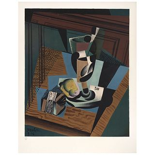 """JUAN GRIS, Untitled, Signed on plate, Lithography 53 / 200, 19.6 x 15.7"""" (50 x 40 cm)"""