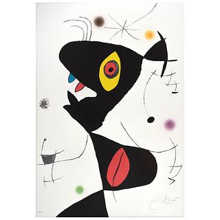 "JOAN MIRÓ, Untitled, Oda a Joan Miró, Signed in pencil, Lithography H. C., 33.8 x 23.2"" (86 x 59 cm)"